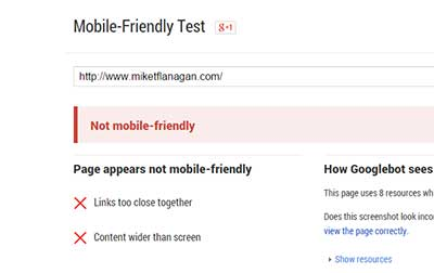 Googles Mobile-Friendly Test Tool