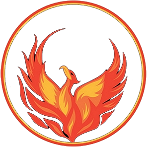 logo phoenix rising from ashes